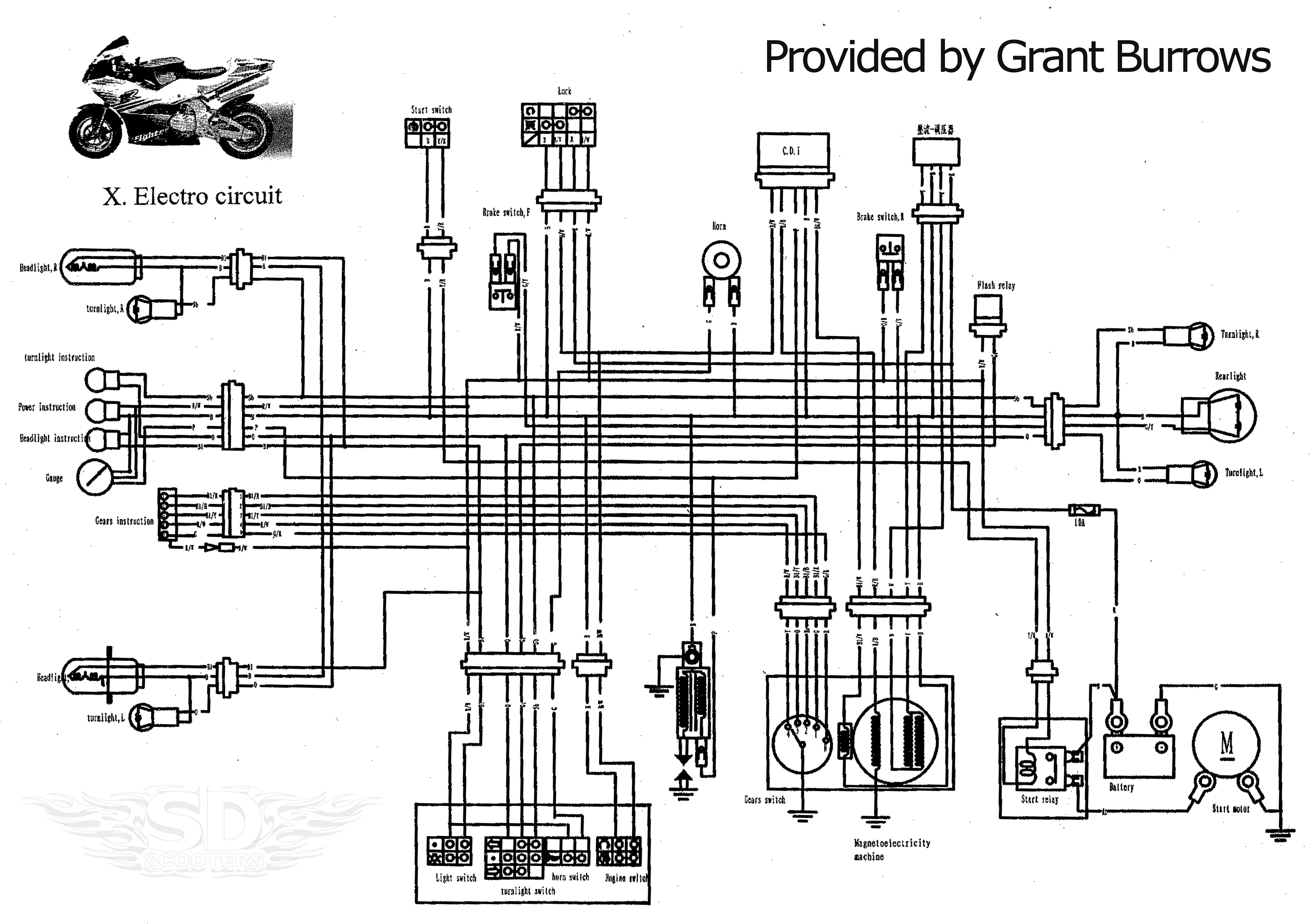 Gas Scooter Wiring Diagrams Diagram Schematics Dji Phantom 2 Motor Go Ped Gtr46i Snowmobile